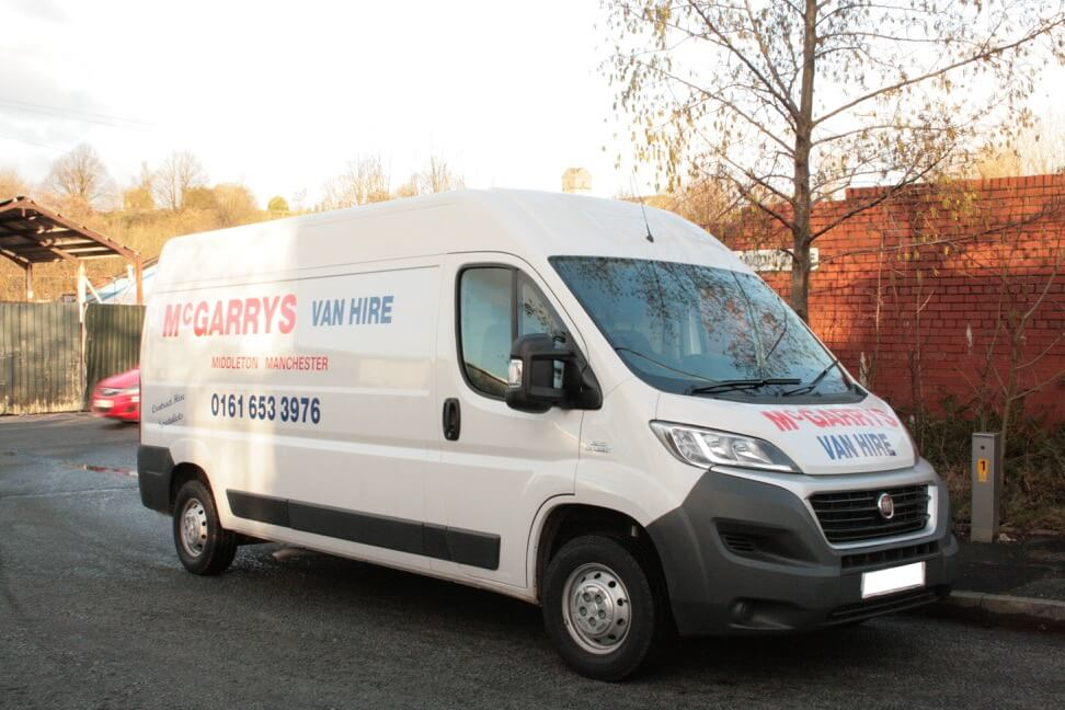 Fiat Ducato sized vehicle for hire in Middleton