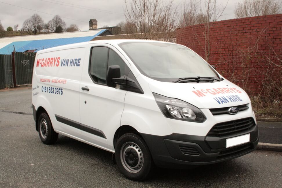 Transit Style (SWB) low and semi high roof van for hire in Middleton